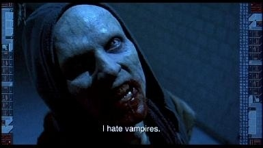 What do vampires hate?