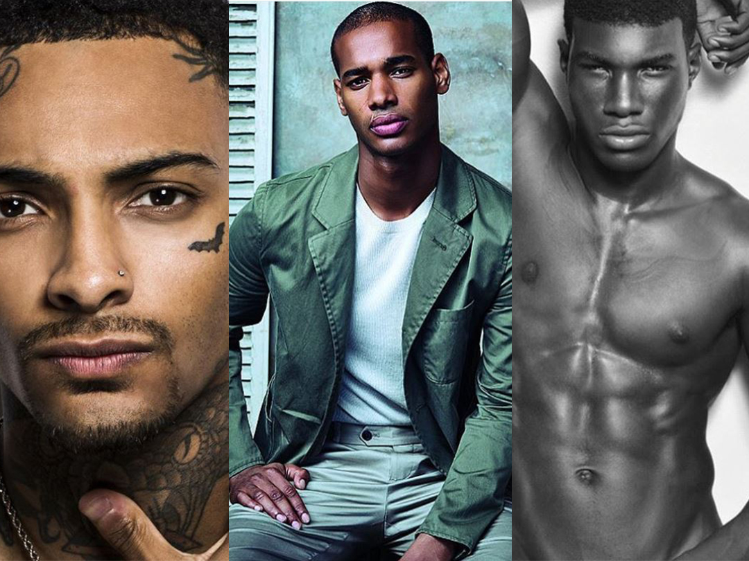 Who was the first black male model?